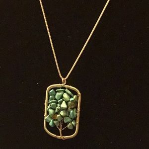 Santa Fe Turquoise Wire wrap Necklace